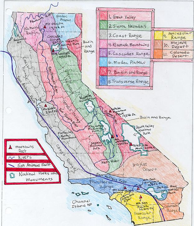California Map Exercise
