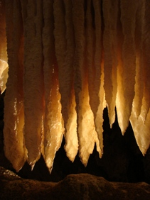 Draperies in Black Chasm Cave