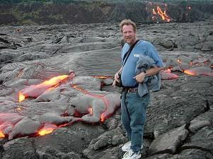 Garry Hayes at Lava Flow on the Big Island